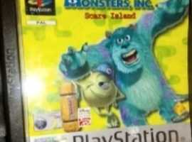 PlayStation One Disney Monster Inc Game Ps1