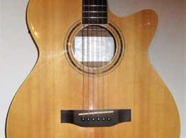 FRESHMAN Renegade Folk Guitar model:RENO CNAT. New Quality String Superb Condition