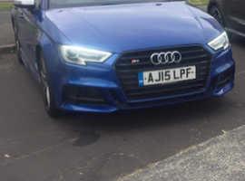 Audi A3, 2015 (15) Blue Saloon, Manual Petrol, 27,200 miles