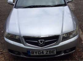 Honda Accord, 2004 (04) Silver Saloon, Manual Diesel