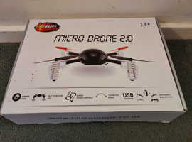 Micro Drone 2.0 Quadcopter, Complete Kit, 2 x Batteries