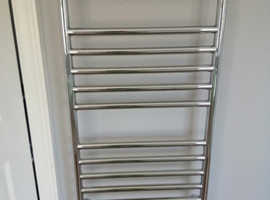 Heated chrome towel rail