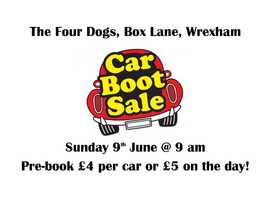 Have a lie in but still make The Four Dogs - Car Boot Sale