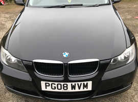 BMW 3 Series, 2008 (08) Black Saloon, Manual Petrol, 52,800 miles