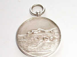 Solid Silver Swimming Fob/Medal, Hallmark Birmingham 1931 - Good Condition - CASH ON COLLECTION ONLY