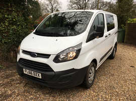 2016 66 FORD TRANSIT CUSTOM CREW VAN 6 SEATER 2.2TDCi Eco-tech 6 speed LWB