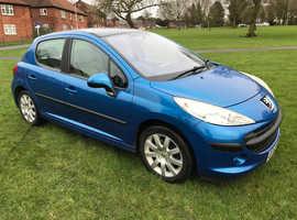 Peugeot 207, 2007 (57) Blue Hatchback, Manual Diesel, 123,000 miles