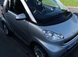 Smart Fortwo Cabrio, 2009 (59) Silver Convertible, Automatic Petrol, 53,000 miles