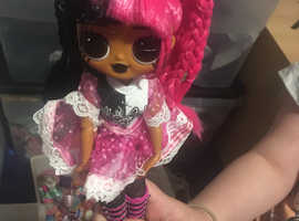 Large collection of OMG and LOL Dolls