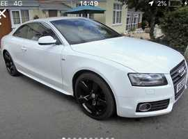 Audi A5, 2010 (60) White Coupe, Manual Petrol, 98,000 miles