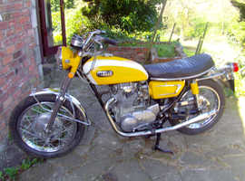 for sale yamaha xs1b 1971 650 with matching  frame and engine numbers 9800 miles on the clock