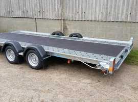"""Car Transporter Trailer 16' x 6'6"""" Woodford WBT141 Hydraulic Tilt"""