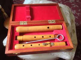 Boxwood baroque flute