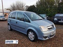 Vauxhall Meriva 1.4 Litre 5 Door MPV, Only 75,000 Miles, New MOT, Full Service History, Just Serviced.