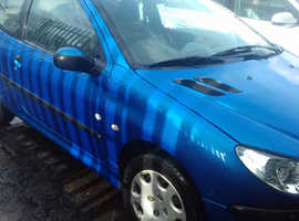 Peugeot 206, 2005 (54) Blue Hatchback, Manual Petrol, 101,000 miles