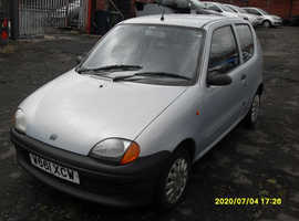 Fiat Seicento, 0.9cc..2000 (W) Grey Hatchback, Manual Petrol, 78,000 miles