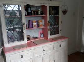 Heavy Oak shabby chic dresser