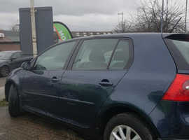 Volkswagen Golf, 2008 (58) Blue Hatchback, Manual Diesel, 75,485 miles