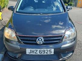 Volkswagen Golf Plus, 2005 (05) Black Hatchback, Manual Petrol, 137,202 miles