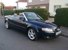 Audi A4, 2006 (56) Blue Convertible, Manual Diesel, 87,500 miles