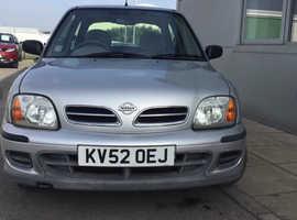 Nissan Micra, 2002 (52) Silver Hatchback, Cvt Petrol, 37,697 miles