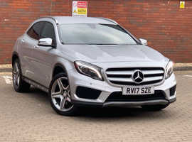 Price Reduced + 2 Years Warranty! Mercedes GLA-CLASS, 2017 (17) silver estate, Automatic Diesel, 25,382 miles
