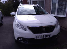 Peugeot 2008, 2016 (66) White Hatchback, Manual Petrol, 16,250 miles