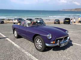 MG B, 1974 (M) Purple Convertible, Manual Petrol, 13,000 miles