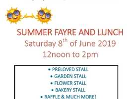 SUMMER FAYRE AND LUNCH Saturday 8th June