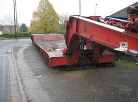 "Grafton Low Loading Trailer, 1988, 4 Axle, Heavy Duty, High Neck 25ft Bed, 22"" Wheels, Outriggers, 98 Ton Gross"