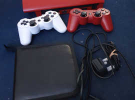 Like new red ps3 with 9 games