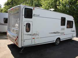 Elddis Avante 556 2007 6 Berth Fixed Bunk Beds Caravan + Half Size Awning