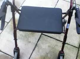 MOBILITY WALKER ROLLATOR 4 WHEELED EXTRA WIDE
