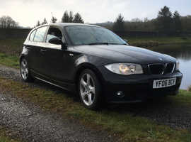 BMW 1 series, 2006 (06) Black Hatchback, Manual Diesel, 157,344 miles