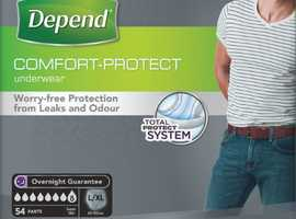Depend for Men Incontinence Large/Extra Pants Super Absorbent Underwear 54 Pack