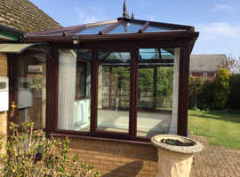 DISMANTLED & AMAZING BUY 2 YEAR OLD CONSERVATORY - EXCELLENT CONDITION & INCLUDES BLINDS, WALL LIGHT & CARPET