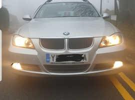 BMW 3 Series, 2007 (07) Silver Estate, Manual Diesel, 135,000 miles