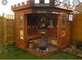 Smoking shelters outdoor bars built
