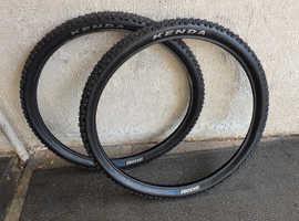 27.5 inch Carrera Kenda Kadre Tyres.