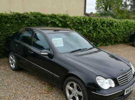 Mercedes C CLASS, 2006 (06) Black Saloon, Automatic Petrol, 74,000 miles