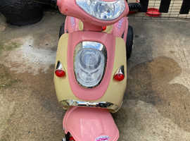 Electric Ride on Girls pink motorcycle