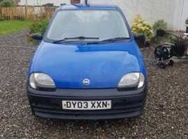 Fiat Seicento, 2003 (03) Blue Hatchback, Manual Petrol, 113,999 miles