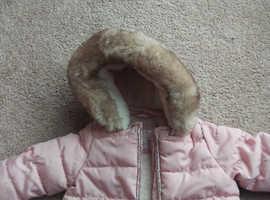 0-3 month girls winter coat