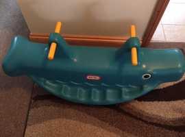Little Tikes Whale Teeter Totter Seesaw rocker