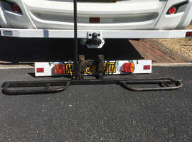 Motor bike rack fits tow bar (suitable for motor home etc)