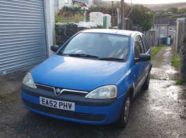 Vauxhall Corsa, 2002 (52) Blue Hatchback, Manual Petrol, 119,000 miles