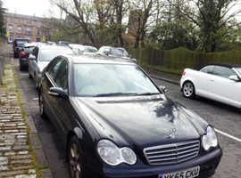 Mercedes C CLASS, 2005 (55) Black Saloon, Automatic Petrol, 179,000 miles