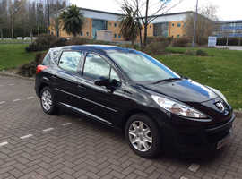 Peugeot 207, 2009 (59) black estate, Manual Diesel, 64,500 miles