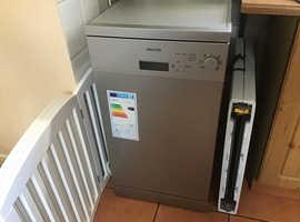 Slimline Silver Dishwasher