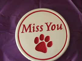 Miss You Pet Paw Print